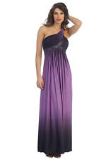 NEW Long Purple Lilac Shoulder Maternity Dress MEDIUM Maxi Gown Special Formal