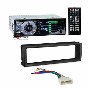 "Soundstream 3.4"" LCD Radio Single Din Dash Kit Harness For 1996-98 Honda Civic"