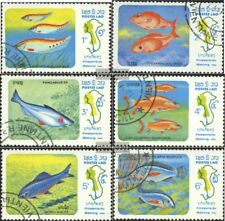 Laos 670-675 (completa.edición) usado 1983 peces fuera de la Mekong