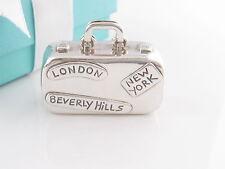 Tiffany & Co Silver Luggage Travel Pill Box Case Box Pouch Card