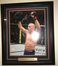 Georges St Pierre Signed Autographed Framed Photo 15x19 PSA COA MMA UFC Champion