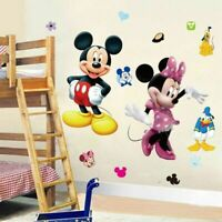 Mickey Minnie Mouse Cartoon Wall Sticker Decal Kids Nursery Mural DIY Home Decor