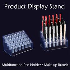 24 Holes Ballpoint Pen Display Stand Make Up Brash Holder Storage Rack UK