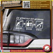 Sticker Autocollant diesel trop chère trop taxe humour carburant sponsor hybride