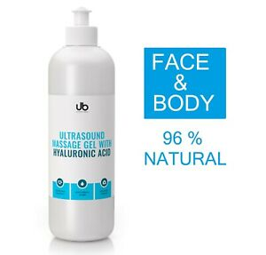 Ultrasound / Cavitation / Contact gel with Hyaluronic Acid - NATURAL 500 ml
