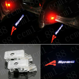 New 2x A-spec Logo Led Light Car Door Laser Courtesy Projector Lamp HD For Acura