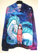 Studio Ghibli Spirited Away Chihiro Gragon Galaxy Hoodie Jumper Jacket Coat Top