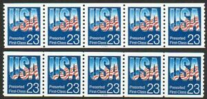 2607 23¢ Flag shiny & low gloss gum PS5 MNH