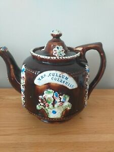 Victorian Barge Ware Measham Tea Pot - Mrs Cullum Coleshill