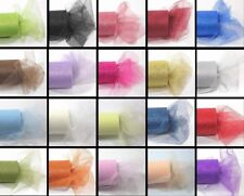 "2X 6"" Glitter Tulle Roll Spool - Wedding Bow Decoration Craft 10 Yard-20 Colors"