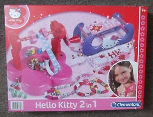 Hello Kitty 2-in-1 Clementoni Loom & Bead Maker for age 7+ Years (New & Sealed)