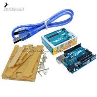 Original Genuine ATmega328 USB Board+Acrylic Case+Cable for Arduino Uno R3