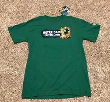 "University of Notre Dame Football 2013 ""The Shirt"" green 2 sided T Shirt sz L"