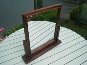 PINE BROWN SWIVEL DRESSING TABLE MIRROR