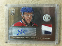 13-14 Panini Totally Certified Rookie Patch Auto RC Gold NATHAN BEAULIEU /10