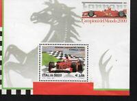 francobollo repubblica italiana ferrari campioni del mondo 2001 foglietto nuovo