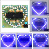 White LED Blue Colorful Light  5V DIY Heart Shaped Light Electronic Kit Set