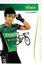 CYCLISME carte cycliste YUKIYA ARASHIRO équipe EUROPCAR 2012
