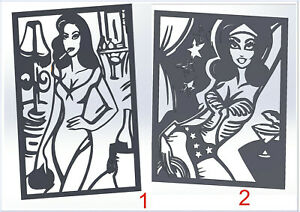 10 DXF File CNC g-code Industrial Laser router plasma water cutting WOMAN Nr.5