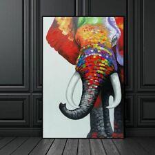 Las imágenes de arte de Pared De Elefante colorido para decoración de la Sala de Estar Lona Impresiones de animales