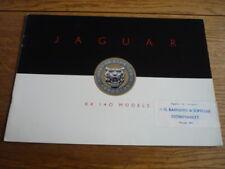 LOVELY JAGUAR XK 140, PRESTIGE, CAR BROCHURE