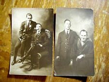 2 WWI SAILOR & FRIEND RPPC Real Photo POSTCARDS with LOVE LETTER Gay Appeal