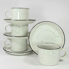 Midwinter Stonehenge CREATION 8oz Cup Saucer Set 8Pc Oatmeal Iron Oxide England