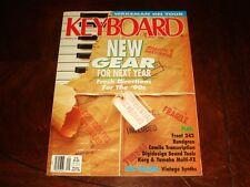 KEYBOARD MAGAZINE SEPTEMBER 1989 - Rick Wakeman, miniMoog, Korg A3, Yamaha FX500