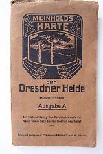 6784 MEINHOLD Landkarte Dresdner Heide um 1928 mit Wanderwegen