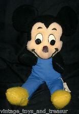 "15"" VINTAGE DISNEY MICKEY MOUSE CALIFORNIA STUFFED ANIMAL PLUSH TOY BLUE OLD BIG"