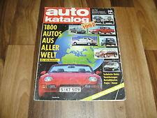 AUTO KATALOG  1992 -- 1800 Modelle aus aller Welt / Betriebskosten -- Preise