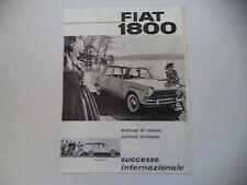 advertising Pubblicità 1959 FIAT 1800