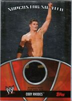 WWE Cody Rhodes 2010 Topps Superstar Swatch Event Worn Memorabilia Card 2 Color