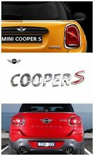 Premium Silver Chrome Cooper S Letter Badge Emblem for Mini Rear Hatch Trunk