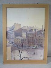 PICARD ANCIENNE AQUARELLE VUE RUE DE PARIS SIGNEE EPOQUE VERS 1940