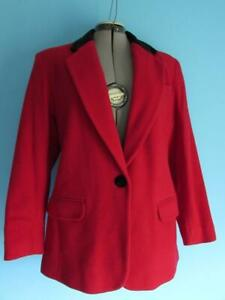 Charter Club Petites Jacket Red W/ Black Color Size Size 8