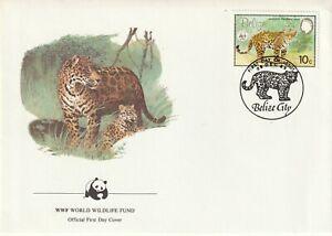 1983 Belize FDC cover Jaguar