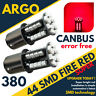 2 x rouge BAY15d 380 1157 44 del frein arrière feu de stop Ampoule Auto Lampe UK