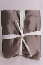 New Pottery Barn Silk Dupioni curtain drape panel 50x84 Brownstone