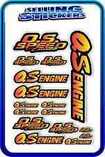 RC AIRCRAFT STICKERS HELI OS ENGINES CAR BUGGY O.S SPEED NITRO PIPE RED YELLOW B