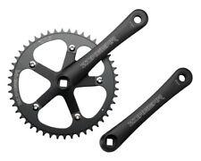 New Zoagear Single Speed Fixie Crank Crankset 172.5mm 46 Teeth 130 BCD - Black