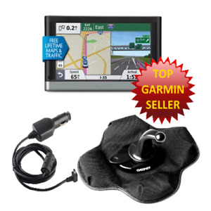2597LMT Garmin Nuvi GPS Sandbag Bundle, Free N American Maps, Car Charger