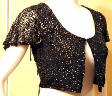 Sm GLITZY HIPPIE CHIC Gypsy 70s BOLERO Top ZARA TRE COLLECTION India Intricate