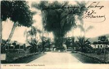 NOVA FRIBURGO JARDIM DA PRAÇA PAYSANDU BRASIL BRAZIL 1907 STAMP VINTAGE POSTCARD