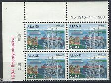 Aland/Åland 1984, Ships MNH in marginblock of four 4