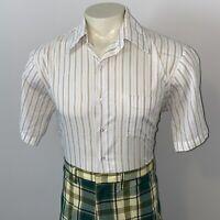 Vtg 50s 60s ARROW Dress Shirt Decton Perma Iron Midcentury Union USA Mens 16.5