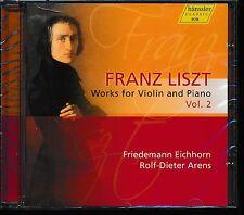 Friedemann Eichhorn Rolf-Dieter Arens Franz Liszt Works for Violin piano vol 2