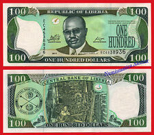 LIBERIA 100 Dolares dolares 2011 Pearlescent Shape CBL Pick new SC / UNC