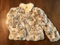 Heirloom VTG Fox Tail and Rabbit Fur Coat, Made in Hong Kong Size Large
