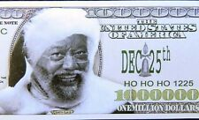 Black Santa Claus FREE SHIPPING! Million-dollar novelty bill